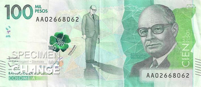 100000 pesos colombien recto (COP)