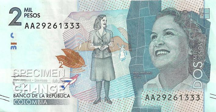 2000 pesos colombien recto (COP)