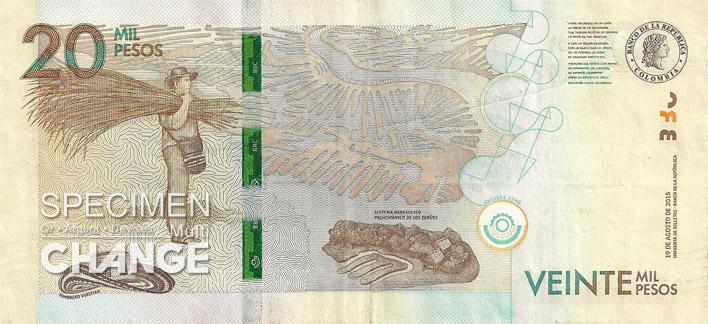 20000 pesos colombien verso (COP)