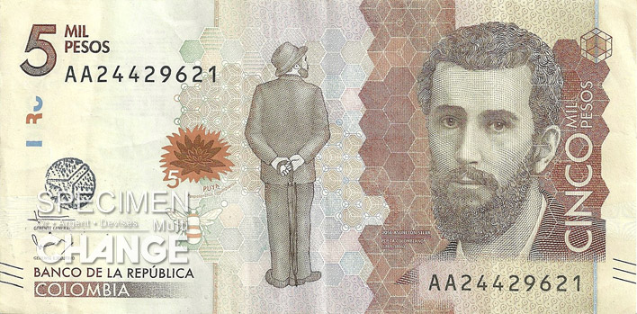 5000 pesos colombien recto (COP)