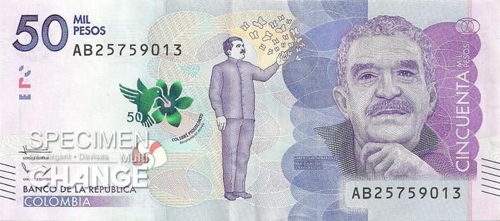 50000 pesos colombien recto (COP)