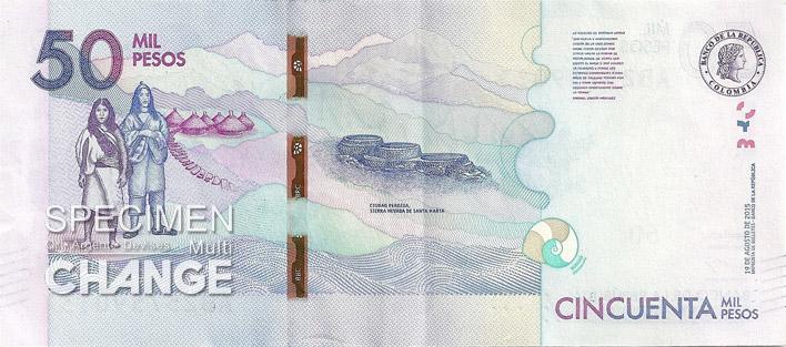 50000 pesos colombien verso (COP)