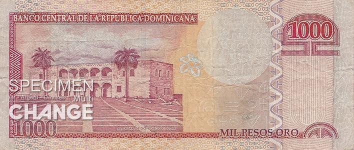 1000 pesos dominicains (DOP)