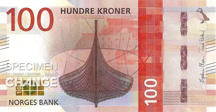 Billet de 100 couronnes norvégiennes (NOK) recto