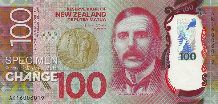 100 dollars néo-zélandais (NZD) recto