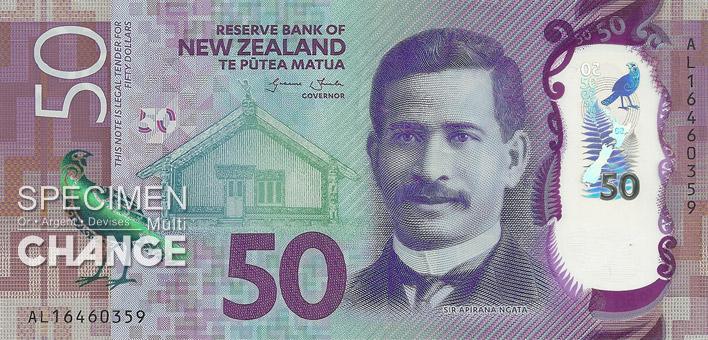 50 dollars néo-zélandais (NZD) recto