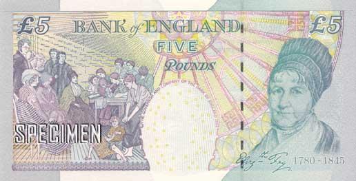 5 livres sterling (GBP)