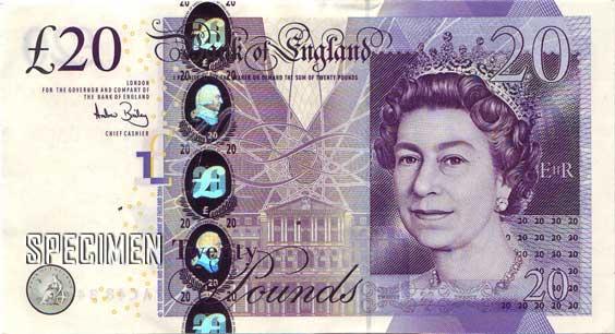 20 livres sterling (GBP)