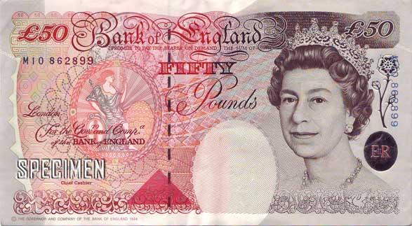 50 livres sterling  (GBP)