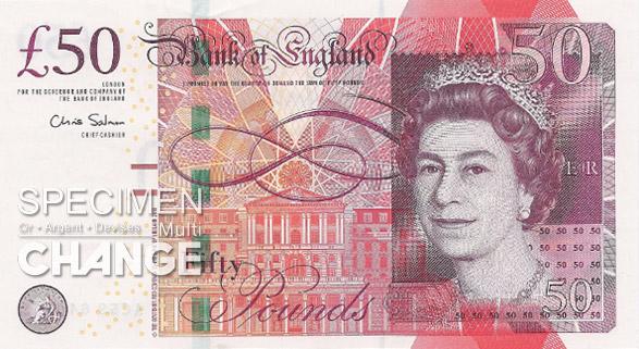 nouveau 50 livres sterling (GBP)