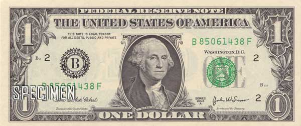 1 dollar am�ricains (USD)