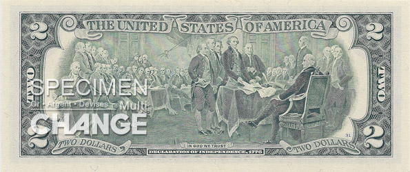 2 dollars am�ricains (USD)