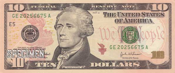 10 dollars am�ricains (USD)