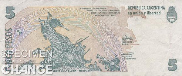 5 pesos argentins (ARS)