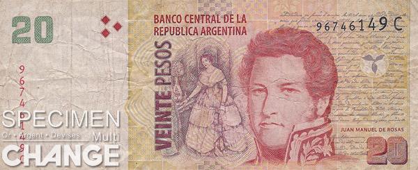 20 pesos argentins (ARS)
