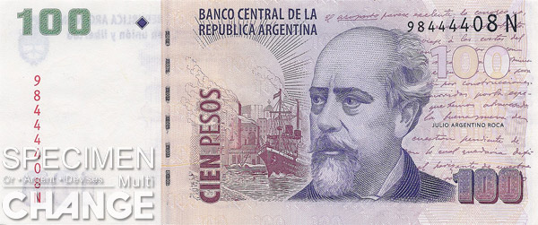 100 pesos argentins (ARS)