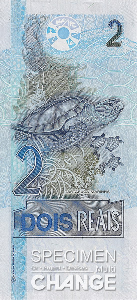 2 réaux brésiliens (BRL)