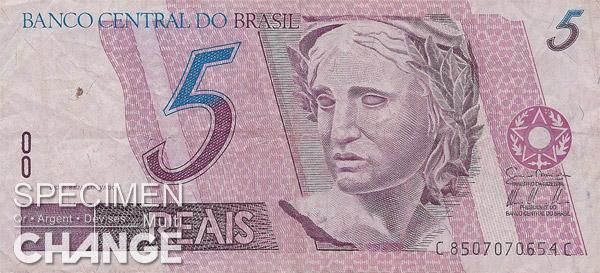 5 réaux brésiliens (BRL)