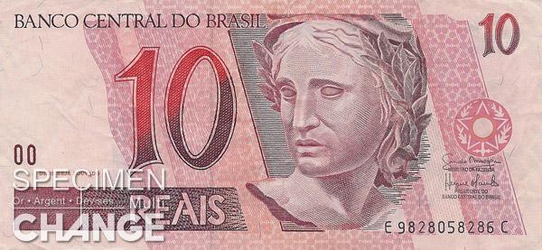 10 réaux brésiliens (BRL)