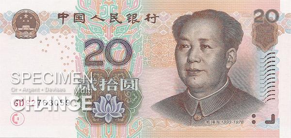 20 yuans chinois (CNY)