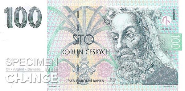 100 couronnes tchèques (CZK)