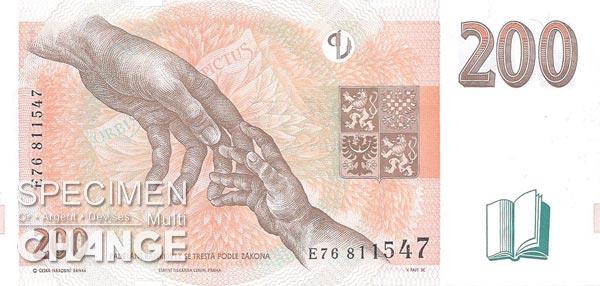 200 couronnes tchèques (CZK)