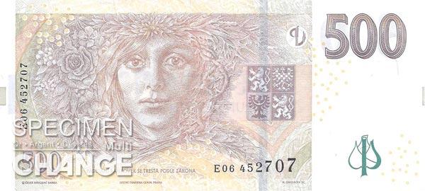 500 couronnes tchèques (CZK)