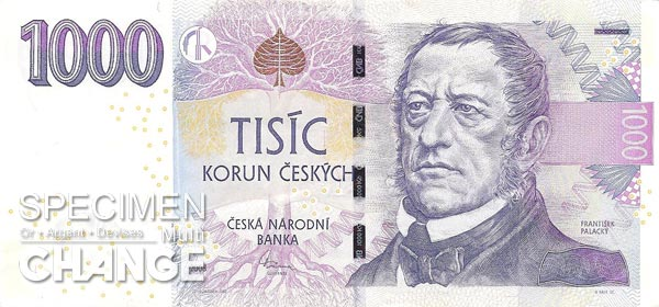1.000 couronnes tchèques (CZK)