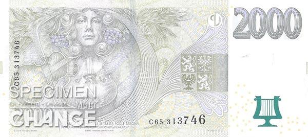 2.000 couronnes tchèques (CZK)