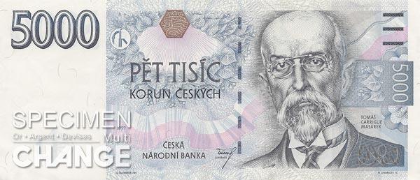5.000 couronnes tchèques (CZK)