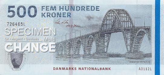 500 couronnes danoises (DKK)