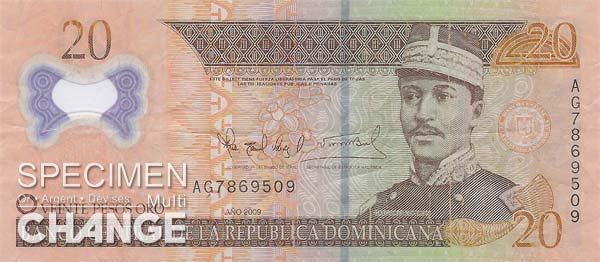 20 pesos dominicains (DOP)