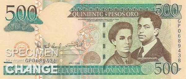 500 pesos dominicains (DOP)