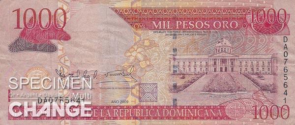 1.000 pesos dominicains (DOP)