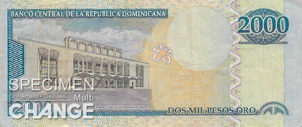 2.000 pesos dominicains (DOP)