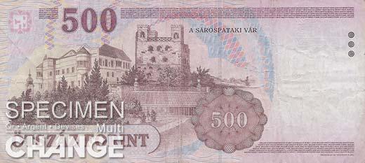 500 forints hongrois (HUF)