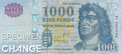 1.000 forints hongrois (HUF)