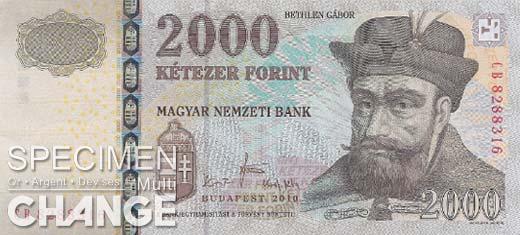 2.000 forints hongrois (HUF)