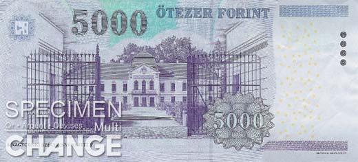 5.000 forints hongrois (HUF)