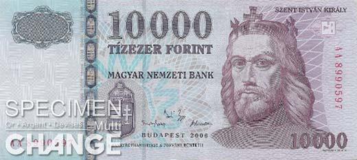 10.000 forints hongrois (HUF)