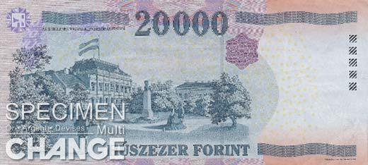 20.000 forints hongrois (HUF)