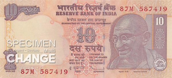 10 roupies indiennes (INR)