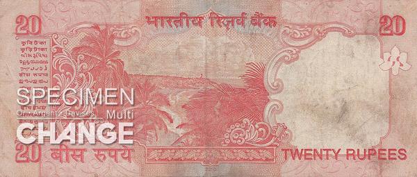 20 roupies indiennes (INR)