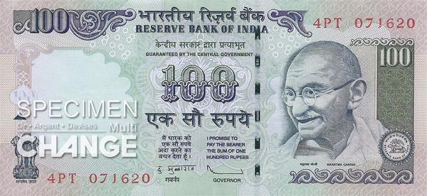 100 roupies indiennes (INR)