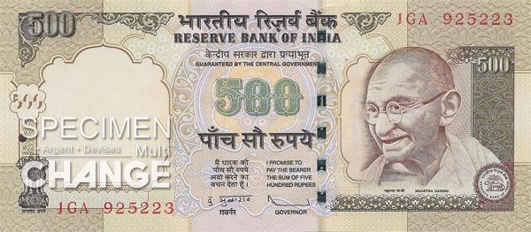 500 roupies indiennes (INR)