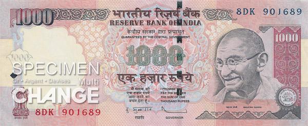 1.000 roupies indiennes (INR)