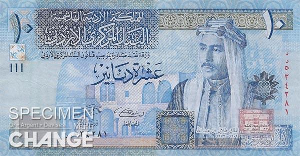 10 dinars jordaniens (JOD)