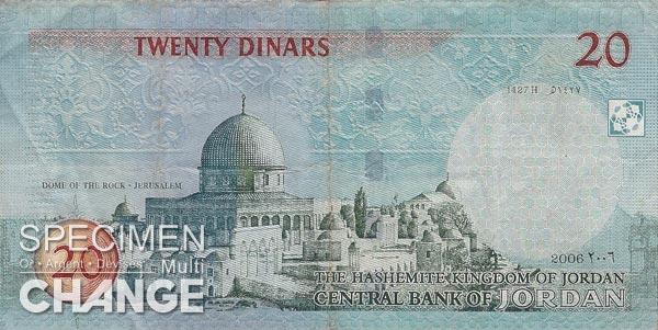 20 dinars jordaniens (JOD)
