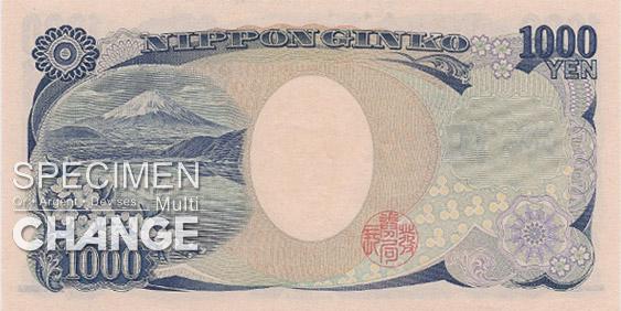 1.000 yens japonais (JPY)