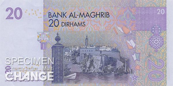 20 dirhams marocains (MAD)